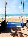 Place for walking on the Mediterranean coast in the town of Nahariya.