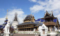 Place of worship religion buddhist temples wednesday Royalty Free Stock Images