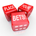 Place Your Bets Dice Gambling Future Opportunity Guess Royalty Free Stock Photo