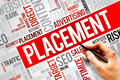 Placement word cloud business concept Stock Images