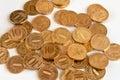 Placer gold coins. Russian ten-coin. Royalty Free Stock Photos