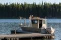 Placid lake montana usa september boat on placid lake in Stock Image