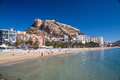 Plage d alicante Photo libre de droits