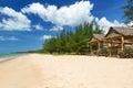 Plage de mer d'Andaman sur l'île de Kho Khao de KOH Images stock