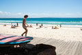 Plage de noosa queensland australie Images stock