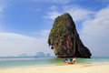 Plage de Railay dans Krabi Image stock
