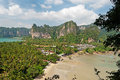 Plage de Railay de point de vue Photographie stock