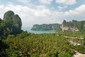 Plage de Railay de point de vue Photo stock