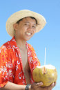 Plage à la bienvenue tropicale Photos libres de droits