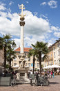 Plague column at alter platz klagenfurt trinity and in the austrian town was originally made of wood and erected on Royalty Free Stock Photos