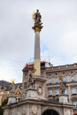Plague Column at Freedom Square in Brno old town Royalty Free Stock Photo