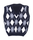 Plaid baby knitted vest Stock Photography
