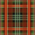 Plaid background red auburn green grey and black Stock Photo