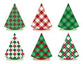 Plaid Christmas Trees Stock Photos