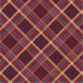 Plaid de tartan texturisé Photo libre de droits