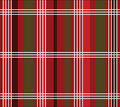 Plaid di natale Fotografia Stock