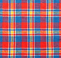 Plaid fabric as a background Stock Images