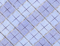 Plaid fabric blue with large cells Royalty Free Stock Image