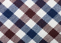 Plaid fabric macro detail of for texture or background Royalty Free Stock Images