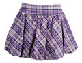 Plaid feminine skirt Stock Image