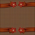 Plaid Flower Ribbons Royalty Free Stock Photo