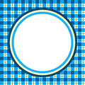 Plaid Gingham circular border frame Royalty Free Stock Photo