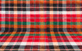 Plaid or loincloth fabric background colorful pattern Royalty Free Stock Photos
