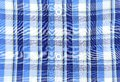 Plaid man shirt button close up background on a whole Royalty Free Stock Images