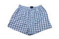 Plaid multicolored men s briefs boxers on a white background Stock Image
