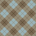 Plaid Pattern_Brown-Blue de 45 degrés Images stock