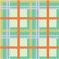 Plaid pattern from knitted texture Stock Photos