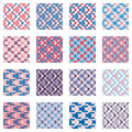 Plaid patterns collection, pink and blue shades Royalty Free Stock Photo