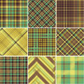 Plaid patterns a vector ill Stock Photo