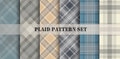 Plaid Patterns. Vector set. Royalty Free Stock Photo