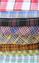 Plaid pieces of cloth Stock Photography