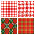Plaid rouge Images libres de droits