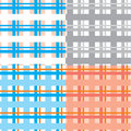 Plaid seamless background set Stock Photo