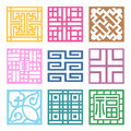 Plaid symbol sets geometric pattern design korean traditional is a Royalty Free Stock Photos