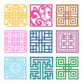 Plaid symbol sets geometric pattern design korean traditional is a Stock Photography