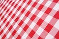 Plaid Tablecloth Stock Photo