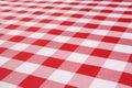 Plaid Tablecloth Royalty Free Stock Photos