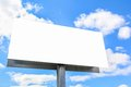 Plain billboard sign blank with blue sky and clouds Stock Image
