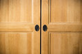 Plain brown wooden doors Stock Image