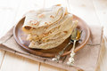 Plain chapatti roti india vegetarian food or flat bread indian food on dining table Stock Photos