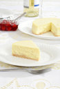 Plain cheesecake Stock Photography