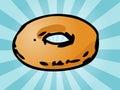 Plain donut Stock Photo