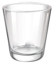 A plain drinking glass illustration of on white background Royalty Free Stock Images