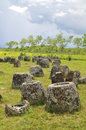 Plain of jars laos Stock Photo