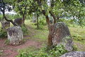 Plain of jars phonsavan laos Stock Image
