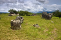Plain of jars phonsavan laos Stock Photography